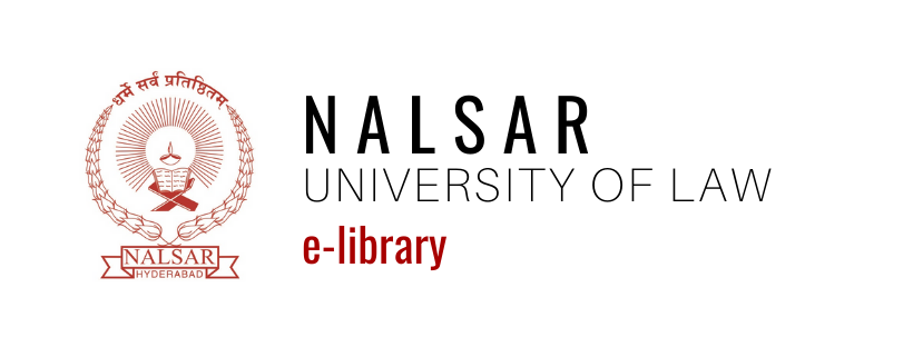 NALSAR University of Law | Library | eLibrary